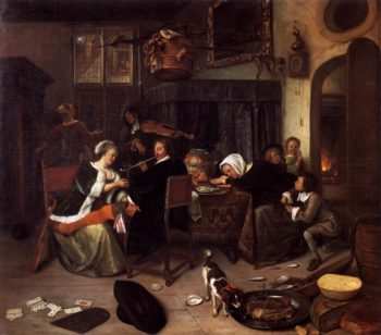 The Dissolute Household 1661-64 | Jan Steen | oil painting