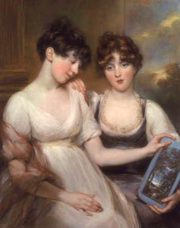 Portrait of Anne and Maria Russell 1804 | John Russell | oil painting
