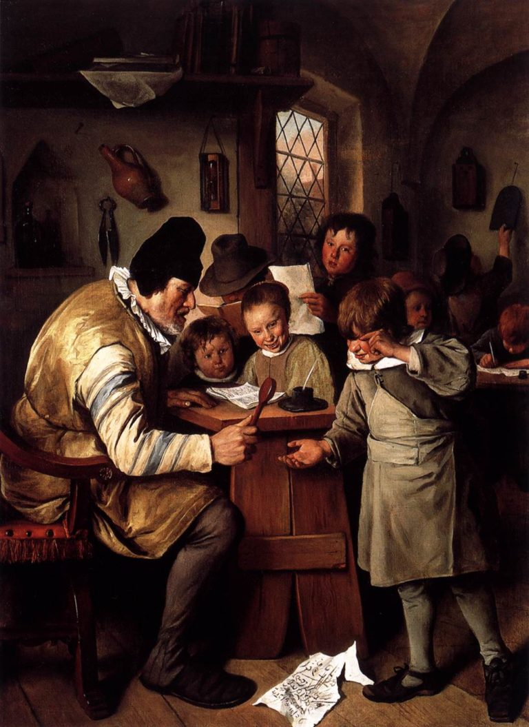 The Schoolmaster 1663-65 | Jan Steen | oil painting