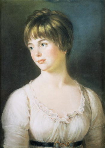 Portrait of a Young Girl 1780   John Russell   oil painting