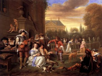 Garden Party 1677 | Jan Steen | oil painting