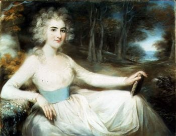 Portrait of Miss Harriet Read 1789   John Russell   oil painting