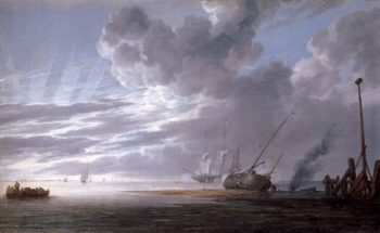 Seascape in the Morning 1640-45 | Simon De Vlieger | oil painting