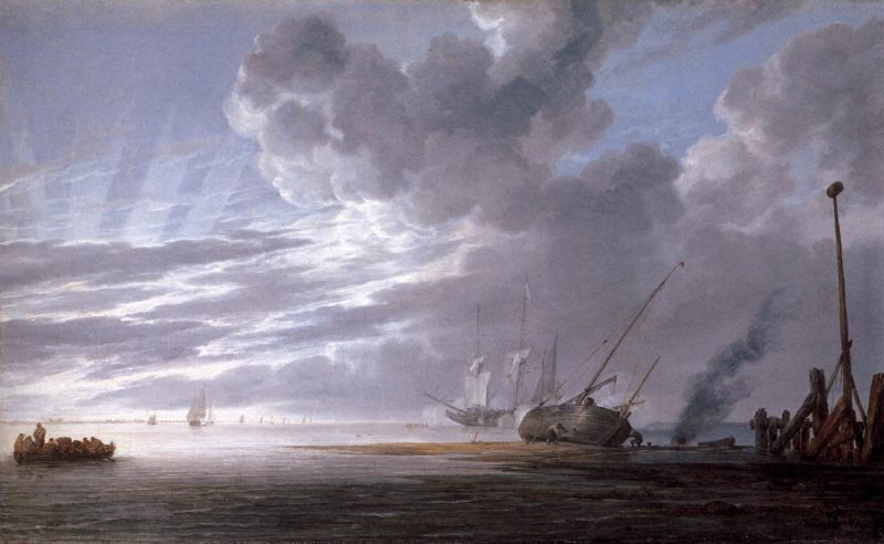 Seascape in the Morning 1640-45 | Simon De Vlieger | oil painting