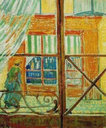 A Pork-Butchers Shop Seen from a Window | Vincent Van Gogh | oil painting