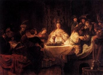 The Wedding of Samson 1638 | Rembrandt Harmenszoon Van Rijn | oil painting