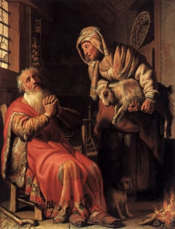 Tobit Accusing Anna of Stealing the Kid 1626 | Rembrandt Harmenszoon Van Rijn | oil painting