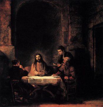 Supper at Emmaus 1648   Rembrandt Harmenszoon Van Rijn   oil painting