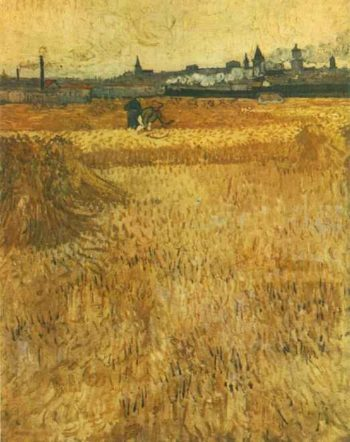 Arles View from the Wheat Fields | Vincent Van Gogh | oil painting