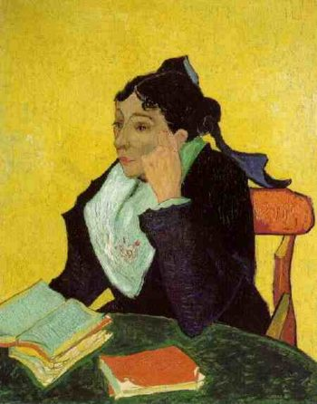 Arlesienne Madame Ginoux with Books | Vincent Van Gogh | oil painting