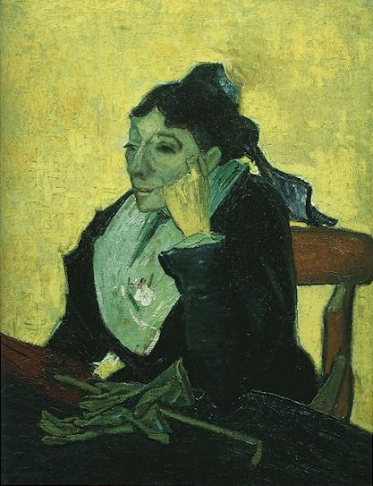 Arlesienne Madame Ginoux with Gloves and Umbrella | Vincent Van Gogh | oil painting