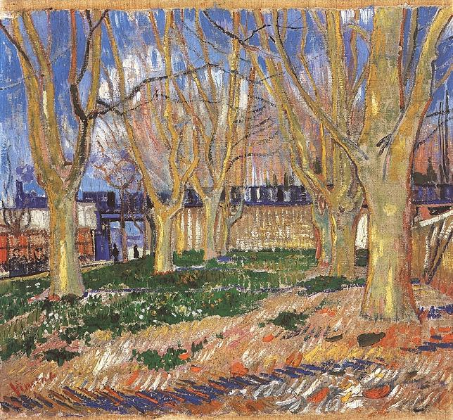 Avenue of Plane Trees near Arles Station   Vincent Van Gogh   oil painting