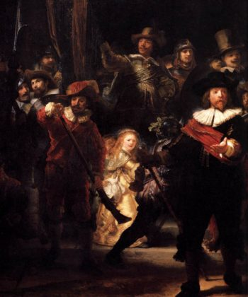 The Nightwatch (detail) 1642 | Rembrandt Harmenszoon Van Rijn | oil painting