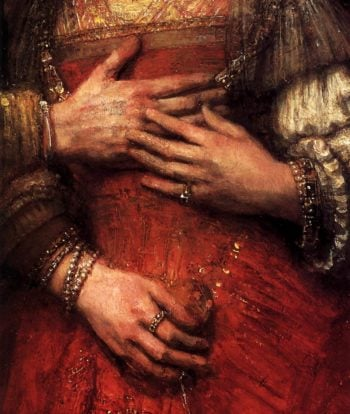 The Jewish Bride (detail) 1665 | Rembrandt Harmenszoon Van Rijn | oil painting