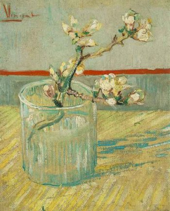 Blossoming Almond Branch in a Glass | Vincent Van Gogh | oil painting