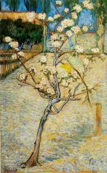 Blossoming Pear Tree | Vincent Van Gogh | oil painting