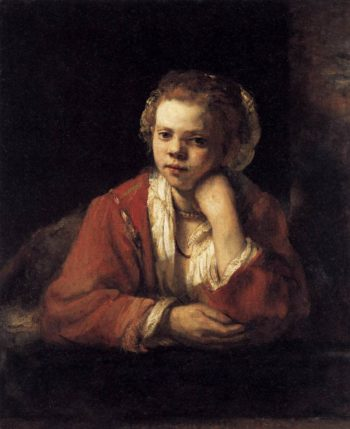 Girl at a Window 1651 | Rembrandt Harmenszoon Van Rijn | oil painting