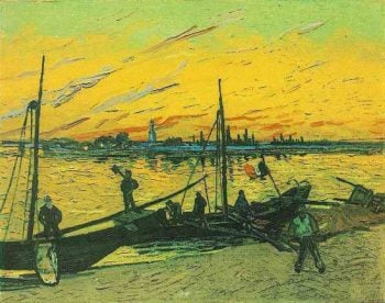 Coal Barges | Vincent Van Gogh | oil painting