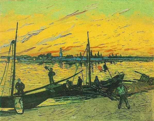 Coal Barges | Vincent Van Gogh | oil painting