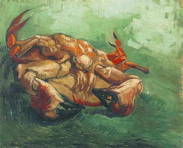 Crab on Its Back | Vincent Van Gogh | oil painting