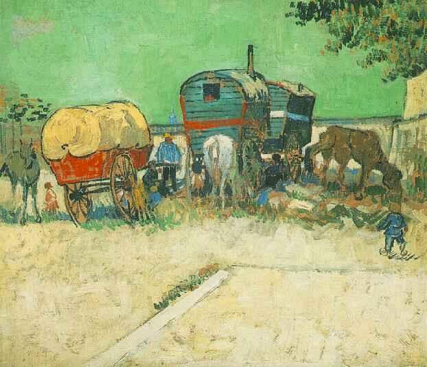 Encampment of Gypsies with Caravans | Vincent Van Gogh | oil painting
