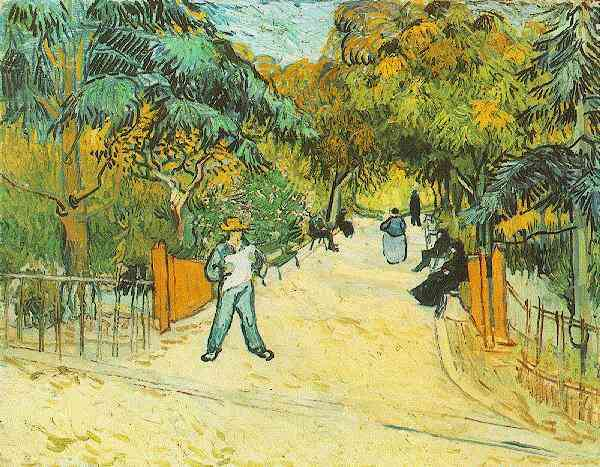 Entrance to the Public Park in Arles | Vincent Van Gogh | oil painting