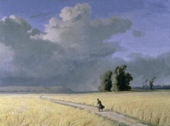 Cornfield near Calais | Josephine Bowes | oil painting