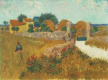 Farmhouse in Provence | Vincent Van Gogh | oil painting