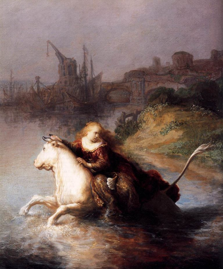 The Abduction of Europa (detail) 1632 | Rembrandt Harmenszoon Van Rijn | oil painting