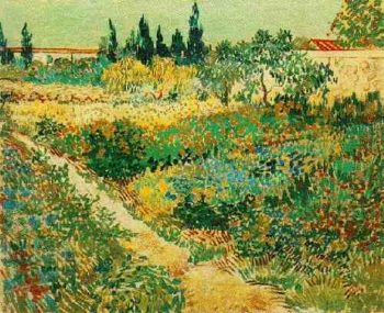 Flowering Garden with Path | Vincent Van Gogh | oil painting