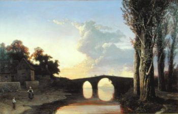 River and Bridge in the South of France   Josephine Bowes   oil painting