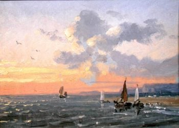 Sea View Sunset | Josephine Bowes | oil painting