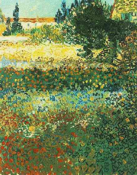 Flowering Garden | Vincent Van Gogh | oil painting
