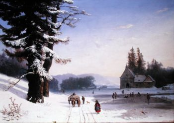 Snow Scene in the South of France 1868   Josephine Bowes   oil painting