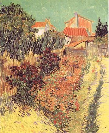 Garden Behind a House | Vincent Van Gogh | oil painting
