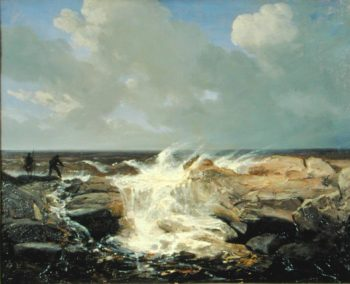 Squally Weather near Boulogne | Josephine Bowes | oil painting