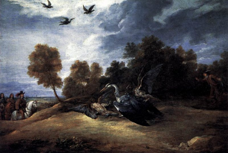 Heron Hunting with the Archduke Leopold Wilhelm 1652-56   David The Younger Teniers   oil painting