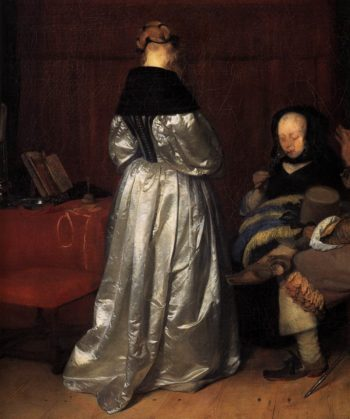 Paternal Admonition (detail) 1654 | Gerard Terborch | oil painting