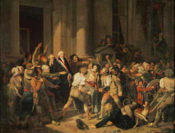 Act of Courage of Monsieur Defontenay | Louis Leopold Boilly | oil painting