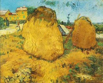 Haystacks in Provence | Vincent Van Gogh | oil painting