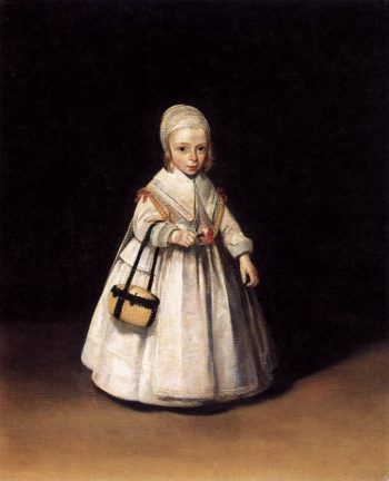 Helena van der Schalcke as a Child 1644 | Gerard Terborch | oil painting