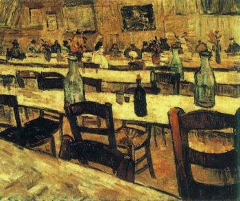Interior of a Restaurant in Arles | Vincent Van Gogh | oil painting