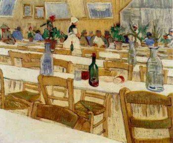 Interior of the Restaurant Carrel in Arles | Vincent Van Gogh | oil painting