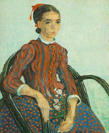 La Mousme Sitting | Vincent Van Gogh | oil painting
