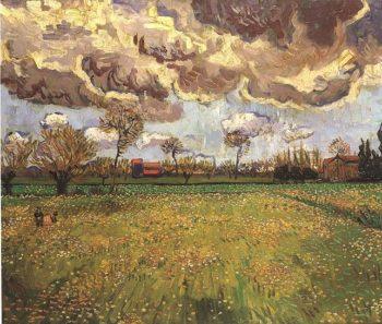 Landscape Under a Stormy Sky | Vincent Van Gogh | oil painting