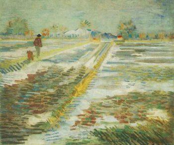 Landscape with Snow | Vincent Van Gogh | oil painting