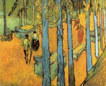 Les Alyscamps Falling Autumn Leaves | Vincent Van Gogh | oil painting
