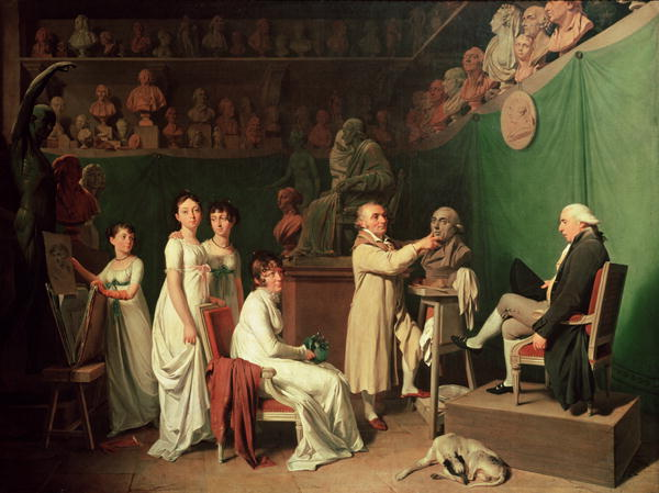 Jean Antoine Houdon | Louis Leopold Boilly | oil painting