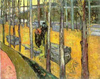 Les Alyscamps version 2 | Vincent Van Gogh | oil painting