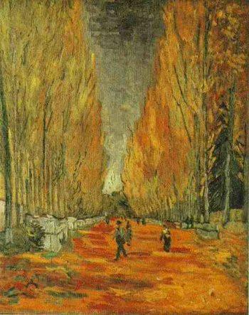 Les Alyscamps version 3 | Vincent Van Gogh | oil painting